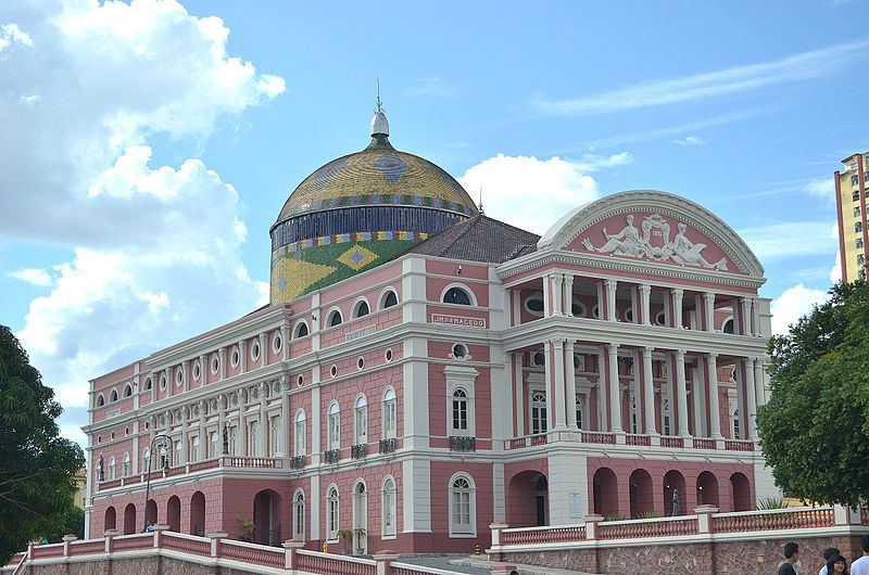 Of all the cool things to see in Manaus, don't miss the opulent Teatro Amazonas ... photo by CC user 101928213@N05 on Flickr