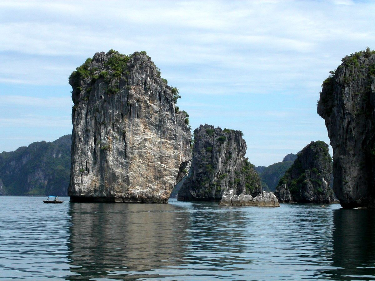 "Halong Bay is one of the places that makes every ""what to see in Vietnam"" list, including this one ... photo by CC user Thomas Hirsch on wikimedia"