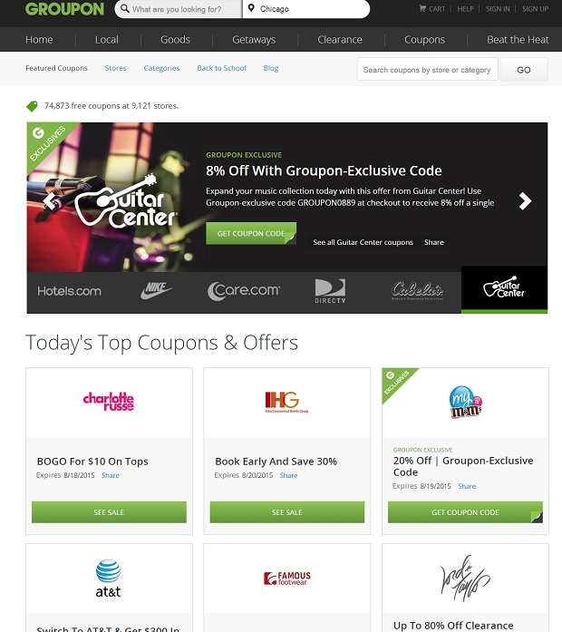 Groupon Coupons image for reliant travel online
